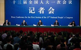 Conférence de presse du mardi 13 mars 2018 au Palais du peuple à Pékin.