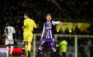 Le milieu de terrain du TFC Alexis Blin lors du match de Ligue 1 entre Toulouse et Rennes, le 14 février 2015.