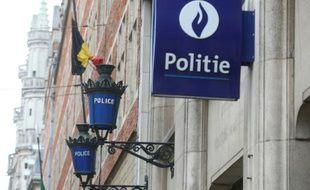 Illustration de l'entrée d'un commissariat à Bruxelles, le 29 décembre 2015