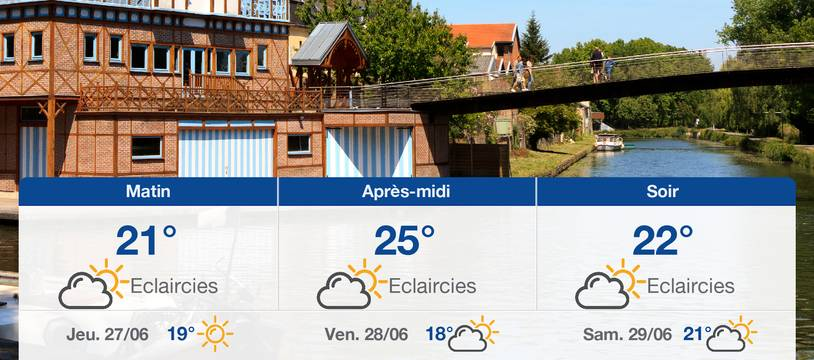 Météo Amiens: Prévisions du mercredi 26 juin 2019