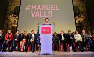 En meeting à Tours, Manuel Valls, le 26 mars 2015