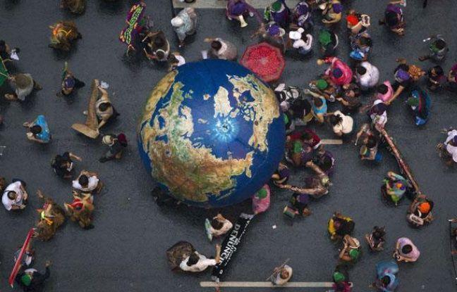 Manifestation en marge du sommet Rio+20, le 20 juin 2012 à Rio de Janeiro.