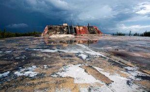 Le site de l'atoll de Mururoa où la France menait des essais nucléaires, photographié le 13 février 2014
