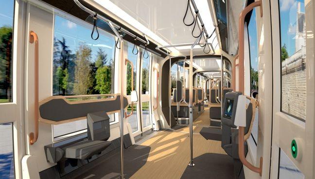 L'intérieur des futurs nouveaux trams nantais