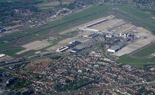 L'aéroport de Charleroi, en Belgique, vu du ciel.