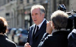 François Bayrou, président du Mouvement démocrate, le 7 mai 2017 à Pau à l'occasion du second tour de la présidentielle