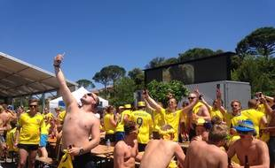 Au camp des supporters suédois dans le Var, le 17 juin 2016