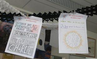 Illustration d'un journal école du collège Flavien de Paris à l'occasion de la semaine de la presse et des médias à l'école.