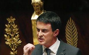 Le Premier ministre, Manuel Valls, devant les députés, le 13 janvier 2015.