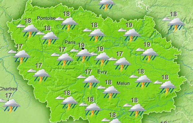 La météo prévue sur l'Ile-de-France le dimanche 29 mai 2016.