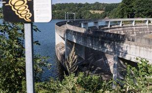 Un barrage hydroélectrique dans l'Aveyron.