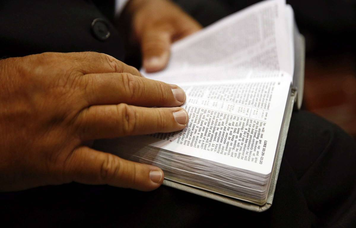 Une Bible (illustration). – Corey Perrine/AP/SIPA