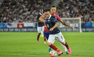 Mathieu Valbuena lors de France-Serbie le 7 août 2015.