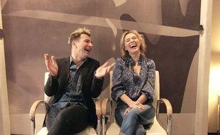 Michaël Youn et Anne Marivin au Mandarin Oriental, lors de l'interview WTF.