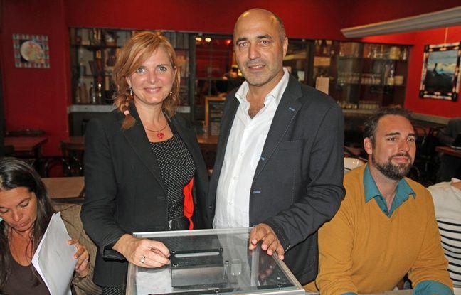 Clothilde Ollier et Jean-Louis Roumégas, lors de la primaire EELV
