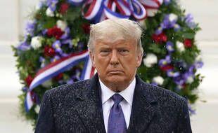 Donald Trump lors d'une cérémonie pour le 11 novembre 2020 à la Maison Blanche.