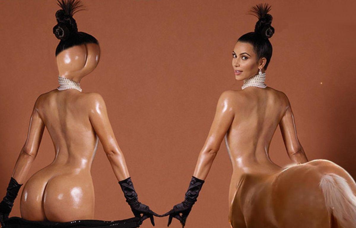 Des détournements de la photo de Kim Kardashian pour «Paper Magazine». – PHOTOMONTAGE