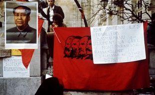 Lors de l'occupation de la Sorbonne, en mai 1968. Mao Tsé-toung, était le héros de certains manifestants.