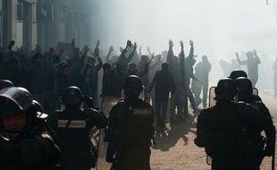 Manifestation contre la loi travail à Nantes le 5  avril 2016. S.SALOM-GOMIS/SIPA