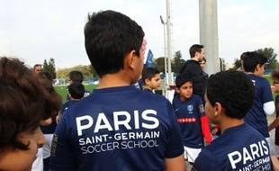 Le PSG va ouvrir une école de football à Moscou, comme ici en 2017 en Tunisie.