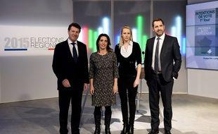Les quatre principaux candidats aux élections régionales en PACA avant le débat sur France 3.