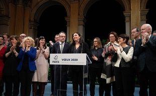 Anne Hidalgo lors de ses vœux 2020