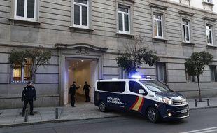 La police nationale espagnole à Madrid, le 14 février 2019. (Illustration)