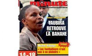 La Une de l'hebdomadaire Minute du 13novembre 2013