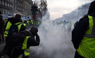 La mobilisation des «gilets jaunes», samedi 8 décembre 2018 à Paris.