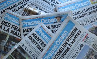 Des exemplaires du journal Presse Océan