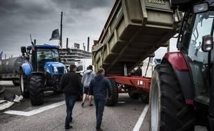 Lors d'une précédente mobilisation des agriculteurs près de Lyon, en 2018.
