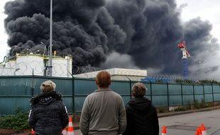 A Rouen, l'incendie de l'usine Lubrizol, le 26 septembre 2019.