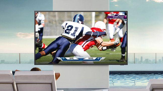 Samsung a imaginé une télé d'extérieur résistante à l'eau et à la poussière