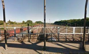 La gare de triage de Mundolsheim, dans le Bas-Rhin.