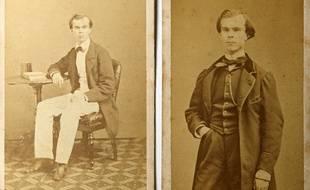 Une très rare photographie du poète Paul Verlaine jeune.