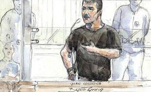 Yvan Colonna devant la cour d'assises de Paris le 4 mai 2011.