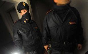 Photo d'illustration de policiers italiens anti-drogue