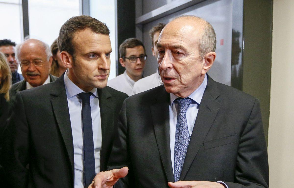Emmanuel Macron et Gerard Collomb à Lyon, le 4 février 2017.Credit:ROBERT PRATTA/POOL/SIPA – SIPA