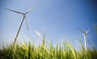 Le parc d''éoliennes d''Avignonet-Lauragais.