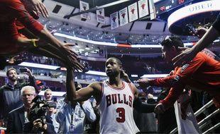 Dwyane Wade a inscrit 22 points pour son tout premier match avec les Chicago Bulls, le 27 octobre 2016 contre les Celtics (105-99).
