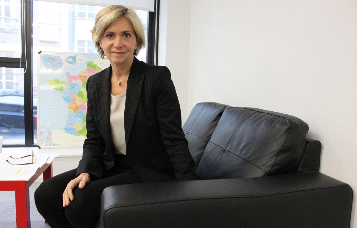 Valérie Pécresse, candidate UMP à la présidence de la région Ile-de-France, le 28 avril 2015, au siège de l'UMP, rue de Vaugirard. – F. Pouliquen / 20 Minutes
