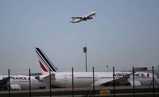Des avions de la compagnie Air France à Roissy (Illustration).