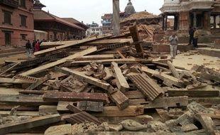 A Katmandou, au Népal,  le 25 avril 2015.