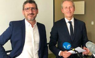 Matthieu Orphelin et Guillaume Garot, désormais dans la même équipe.