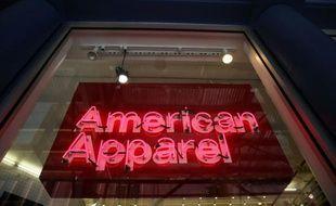 Le logo American Apparel, le 19 août 2015 à New York