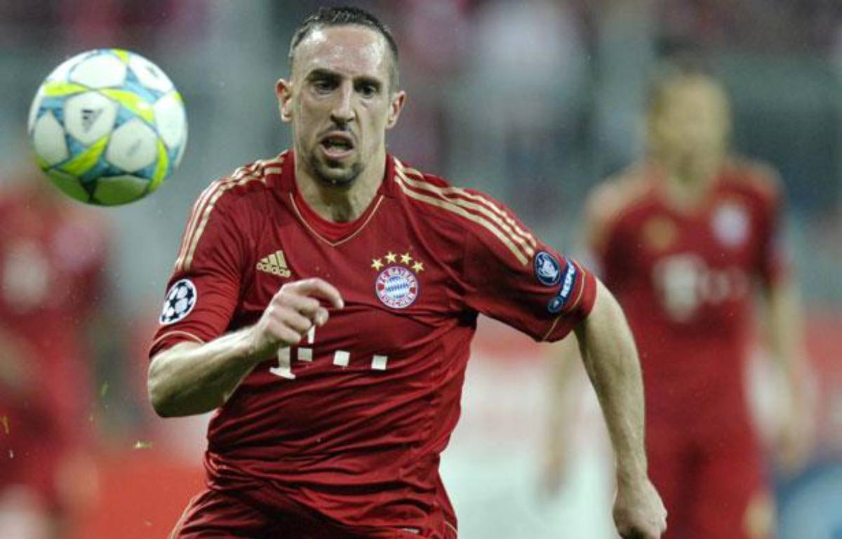 Franck Ribéry, l'attaquant du Bayern Munich, le 3 avril 2012, contre Marseille, lors des quarts de finale retour de la Ligue des Champions. – THOMAS KIENZLE / AFP