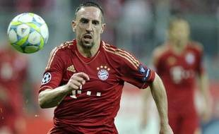 Franck Ribéry, l'attaquant du Bayern Munich, le 3 avril 2012, contre Marseille, lors des quarts de finale retour de la Ligue des Champions.
