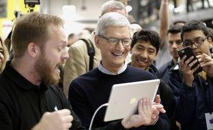 Le patron d'Apple, Tim Cook, le 27 mars 2018.