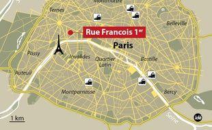 Localisation de la boutique Cartier à paris