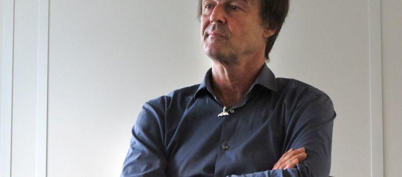 Nicolas Hulot lors d'une rencontre à la rédaction de « 20 Minutes », le 26 novembre 2015 (illustration).